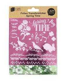 Folien Transfersticker Spring II, pink / grün Transfersticker 668009900000 Bild Nr. 1
