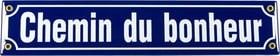 Panneau en émail Chemin du bonheur 605077900000 Photo no. 1