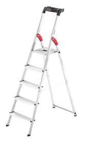Sicherheits-Haushaltsleiter L60 EC Hailo 630909500000 Anzahl Stufen / Sprossen 5 Bild Nr. 1