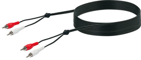 Cable cinch stereo 5m noir