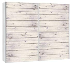 CORELLE Armoire à portes coulissantes 404443100000 Dimensions L: 252.0 cm x P: 67.0 cm x H: 220.0 cm Couleur Acacia lasuré blanc Photo no. 1