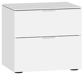 MODUL Table de chevet 404546100000 Dimensions L: 45.0 cm x P: 43.0 cm x H: 42.0 cm Couleur Verre blanc satiné Photo no. 1