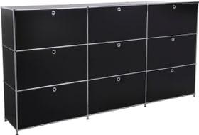 FLEXCUBE Highboard 401815030320 Grösse B: 227.0 cm x T: 40.0 cm x H: 118.0 cm Farbe Schwarz Bild Nr. 1