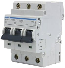 "Interruttore automatico ""C"" 3x 13A Leitungschutzschalter Hager 612168100000 N. figura 1"