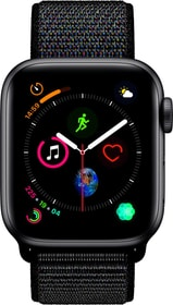 Watch Serie 4 40mm GPS+Cellular space gray Aluminum Black Sport Loop Smartwatch Apple 79845310000018 Photo n°. 1