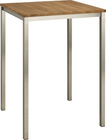ALEXIS II tavolo bar 402399115002 Dimensioni L: 80.0 cm x P: 80.0 cm x A: 110.0 cm Colore Quercia massiccia N. figura 1