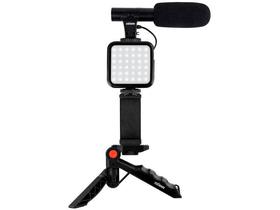 Kit per vlogging con microfono VL-5 Video luce Dörr 785300159848 N. figura 1