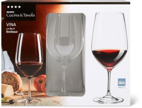 VINA Bordeaux Cucina & Tavola 701132400004 Dimensions H: 22.5 cm Couleur Transparent Photo no. 1