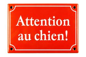 Emailschild Attention au chien! 605077700000 Bild Nr. 1