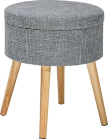 RORY Pouf 402472100000 Dimensions H: 42.0 cm Couleur Gris Photo no. 1