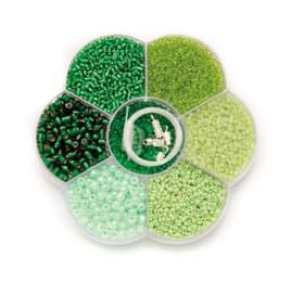 Perlenmix grün 10cm x 2cm 608113300000 Bild Nr. 1
