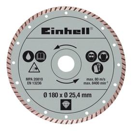 Disco diamantato Ø180 x ø25.4 x 1,6 mm TURBO Einhell 616238600000 N. figura 1