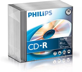 CD-R 700 MB 10-Pack CD Rohlinge Philips 787241900000 Bild Nr. 1
