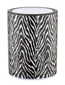 Poubelle Zebra noir-blanc Kleine Wolke 674140500000 Photo no. 1