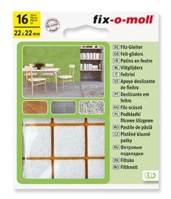 Filzgleiter 3 mm / 22 x 22 mm 16 x Filzgleiter Fix-O-Moll 607068000000 Bild Nr. 1