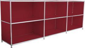 FLEXCUBE Sideboard 401809500030 Grösse B: 227.0 cm x T: 40.0 cm x H: 80.5 cm Farbe Rot Bild Nr. 1