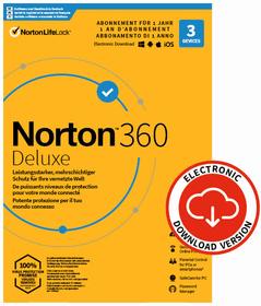Security 360 Deluxe with 25GB 3 Device - PC/Mac/Android/iOS - ESD Digital (ESD) Norton 785300155782 Bild Nr. 1