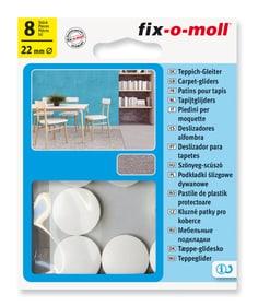 Teppich-Gleiter Ø 22 mm 8 x Fix-O-Moll 607084100000 Bild Nr. 1