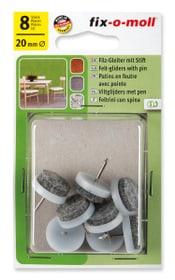 Filzgleiter mit Stift 4 mm / Ø 20 mm 8 x Fix-O-Moll 607069500000 Bild Nr. 1