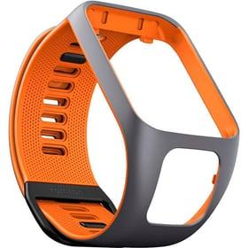 3 Cinturino per orologio large grigio/arancione