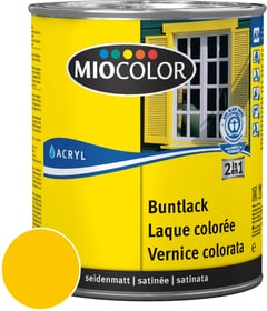 Acryl Vernice colorata satinata Giallo melone 750 ml Acryl Vernice colorata Miocolor 660554000000 Colore Giallo melone Contenuto 750.0 ml N. figura 1