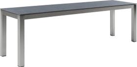 LOCARNO, Gestell Edelstahl, Platte Keramik Gartenbank 753193316080 Grösse L: 160.0 cm x B: 35.0 cm x H: 45.0 cm Farbe Grigio Struttura Bild Nr. 1