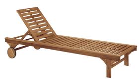 Chaise longue en bois CAMERON