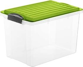 COMPACT Boîte de rangement 19l avec couvercle, Plastique (PP) sans BPA, vert/transparent, A4 Boîte de rangement Rotho 604055900000 Photo no. 1