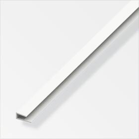 Einfass-Profil 4 x 15 mm PVC weiss 1 m alfer 605136400000 Bild Nr. 1
