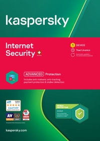 Internet Security (1 PC) [PC/Mac/Android] (D/F/I) Physique (Box) Kaspersky 785300146376 Photo no. 1