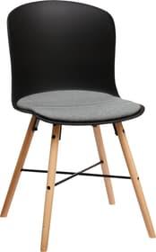 BRERA Chaise 403704700000 Dimensions L: 45.5 cm x P: 54.0 cm x H: 80.5 cm Couleur Gris Photo no. 1
