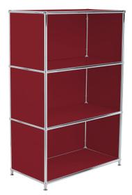 FLEXCUBE Highboard 401808600030 Grösse B: 77.0 cm x T: 40.0 cm x H: 118.0 cm Farbe Rot Bild Nr. 1