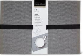 Set de table 2 pcs Cucina & Tavola 700368000080 Couleur gris Photo no. 1
