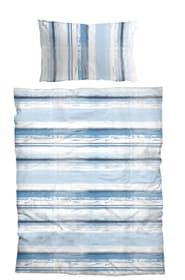 DALMIRO Parure de lit en microfibre 451247214440 Couleur Bleu Dimensions L: 160.0 cm x H: 210.0 cm Photo no. 1