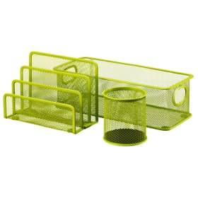 MESH Set pour bureau 3 pièces 440632400360 Couleur Vert Dimensions L: 28.0 cm x P: 9.0 cm x H: 13.5 cm Photo no. 1