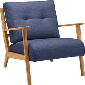 FAUST Sessel 402466907040 Grösse B: 76.0 cm x T: 80.0 cm x H: 78.0 cm Farbe Blau Bild Nr. 1