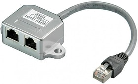 Kabelsplitter RJ45 grau