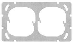 Edizio Due UP double horizontal Plaque de montage Feller 612185700000 Photo no. 1