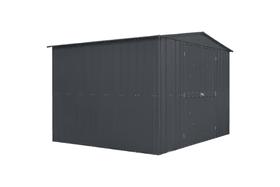 Remise en métal 10x8 PLUS avec des portes battantes Globel 647329900000 Photo no. 1