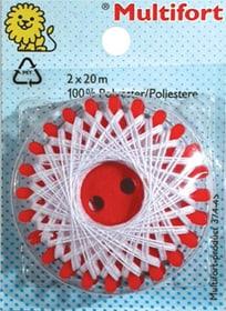 Sternzwirn Polyester weiss 2x20m Multifort 665423600000 Bild Nr. 1