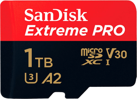 Extreme Pro 170MB/s microSDXC 1To MicroSDXC SanDisk 785300144546 Photo no. 1