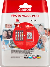 CLI-581XL Multipack + Glossy photo paper Cartouche d'encre Canon 798542900000 Photo no. 1