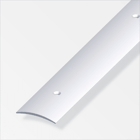 Übergangsprofil 2.5 x 37 mm gelocht silberfarben 1 m alfer 605139400000 Bild Nr. 1