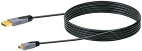 Kabel USB 2.0 HQ 2m schwarz, USB 2.0 TypA / USB 2.0 TypB 2 m USB-Kabel Schwaiger 613184300000 Bild Nr. 1