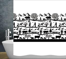 Swiss Dream Tenda da doccia diaqua 674242700000 Colore Nero, Bianco Taglio 120x200 cm N. figura 1