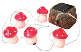 LED Solarlampen Fliegenpilze