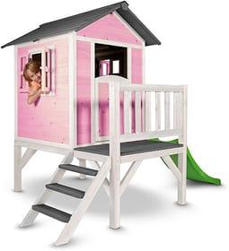 Maisonnette de jeu Lodge XL, rose vif/blanc