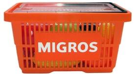 Migros Einkaufskorb mit Früchte und Gemüse