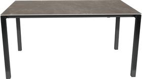 KANO, 200/260 cm, struttura antracite, piano Ceramica Tavolo allungabile 753194120072 Taglio L: 200.0 cm x L: 95.0 cm x A: 74.0 cm Colore Wild Grey N. figura 1