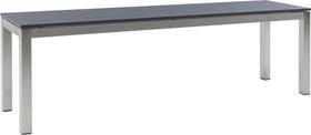 LOCARNO, Gestell Edelstahl, Platte HPL Gartenbank 753193920083 Grösse L: 200.0 cm x B: 35.0 cm x H: 45.0 cm Farbe Dark grey Bild Nr. 1